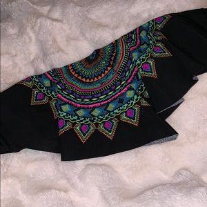 Multi-Colored Bandeau Swim Top